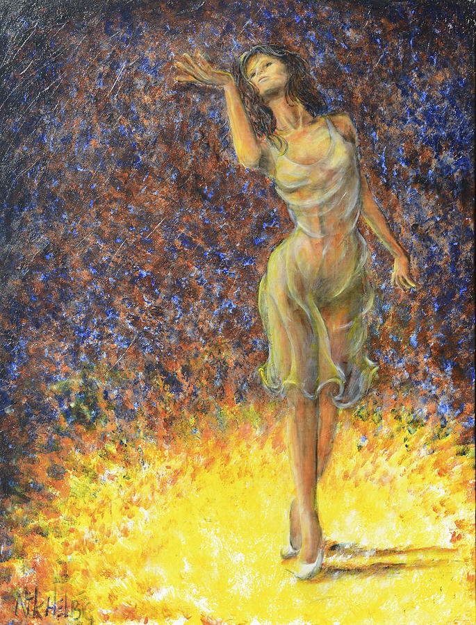 Woman Painting - Parting Dancer by Nik Helbig