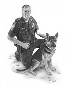Commissioned Drawing - Partners by Brian Duey