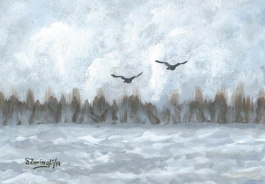Lake Painting - Partners For Life by Shelley Zwingli