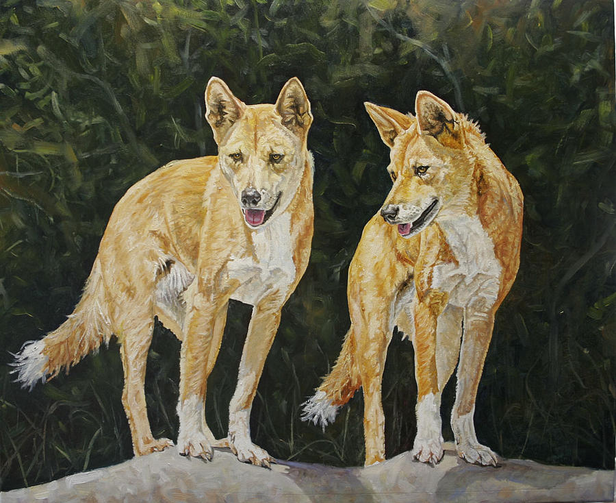 Dingos Painting - Partners In Crime by Jason  Swain