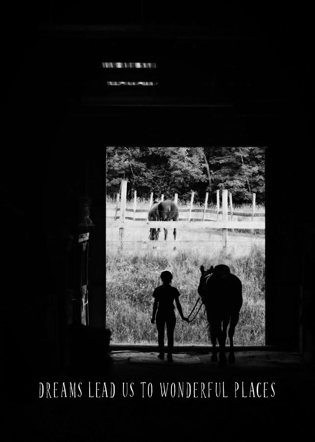 Horse Photograph - Partners Quote by JAMART Photography