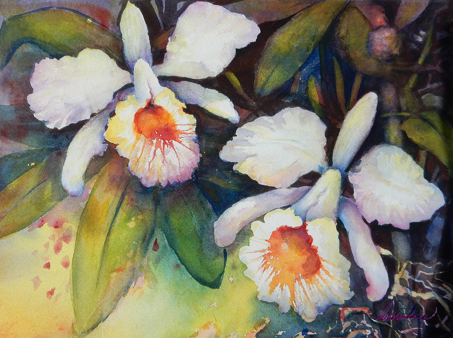 Flowers Painting - Partnership by Caroline Patrick
