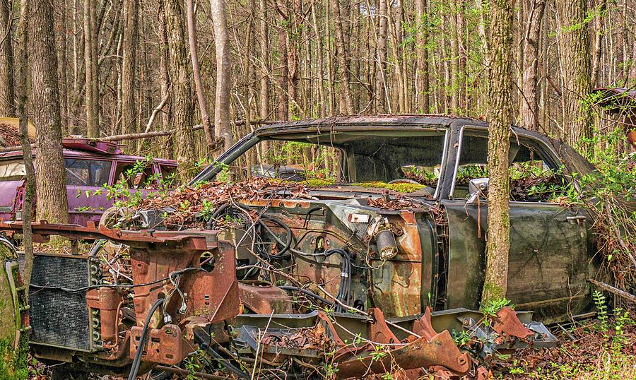 Car Photograph - Parts For Sale by Dennis Dugan