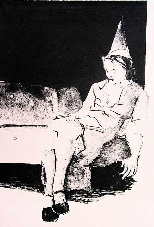 Lithograph Painting - Party Alone by Brad Wilson