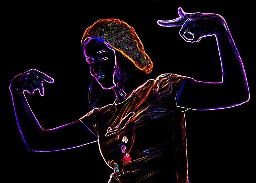 Party Mixed Media - Party Girl by Katarzyna Horwat