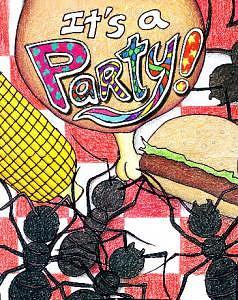 Party Invitation Drawing - Party Invite by Lana Cheng