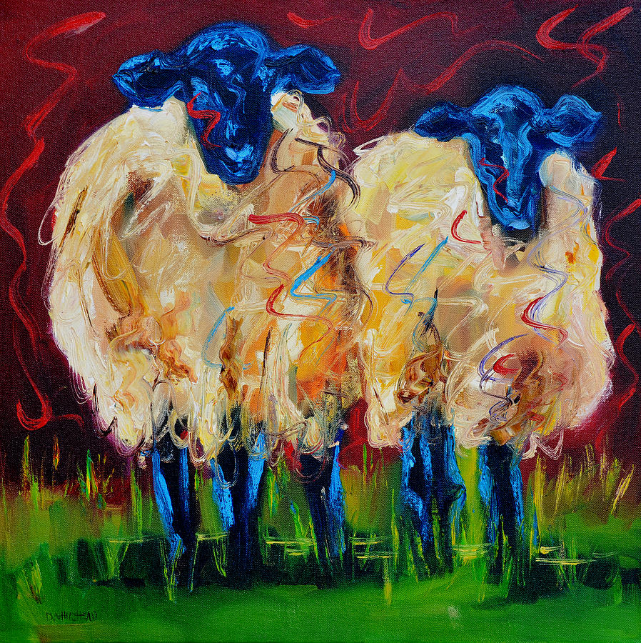 Party Sheep Painting By Diane Whitehead