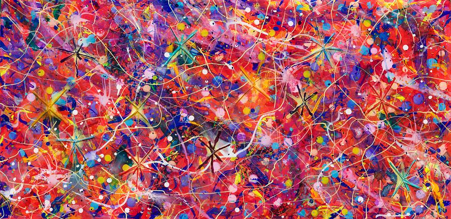 Acrylic Painting - Party Time by Patrick OLeary