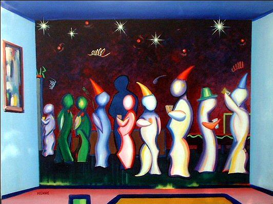 Party Painting - Party Time by Robert Henne