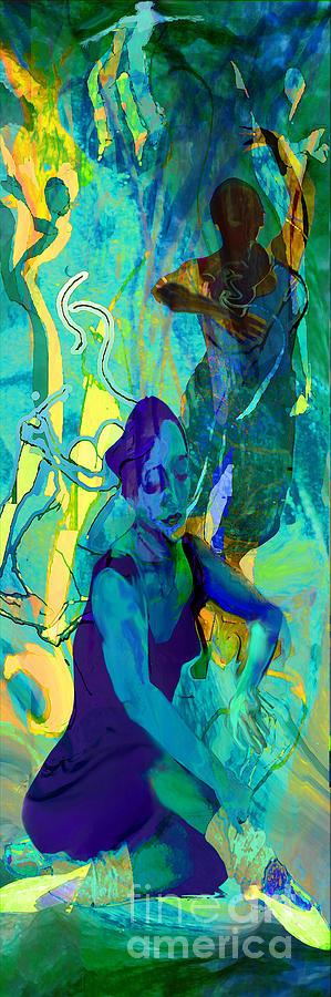 Woman Painting - Pas De Deux by Anne Weirich