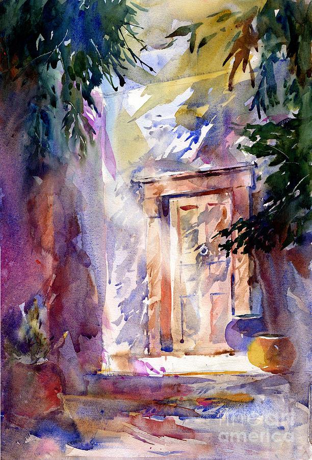 Doorway Painting - Pasadena Doorway by John Byram