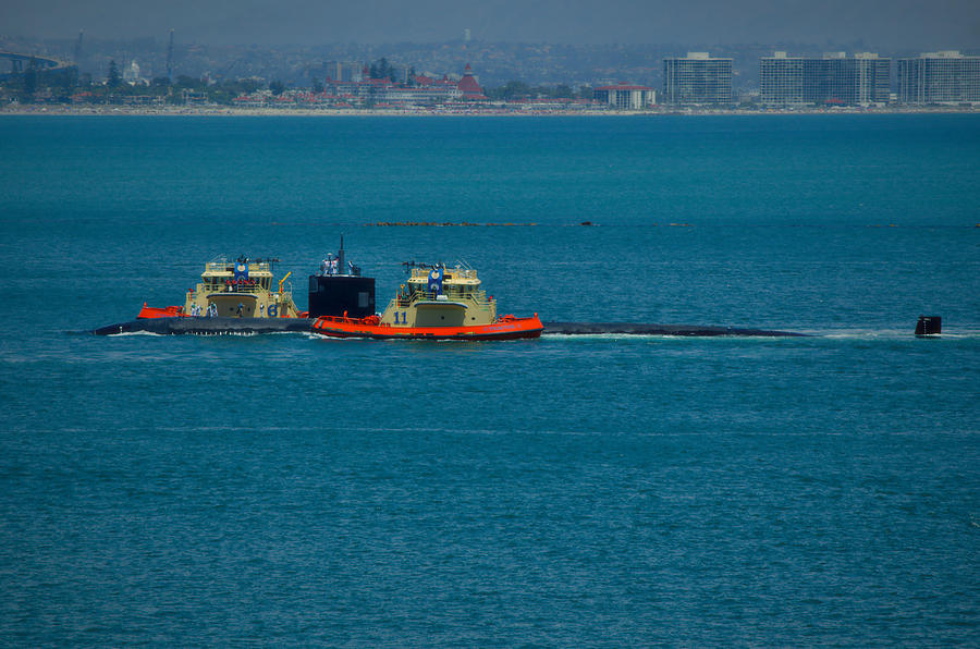 Naval Base Point Loma Photograph - Pasadena- Fast Attack Sub by See My  Photos
