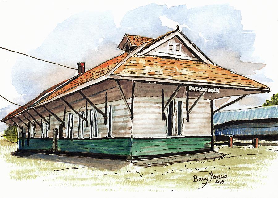 Pascagoula Train Depot by Barry Jones