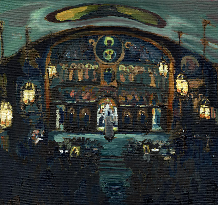 Pascha Painting - Pascha, St. John Orthodox Church, Memphis TN by Laura Wilson