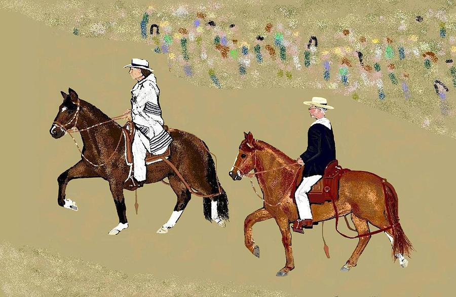 Horses Digital Art - Pasos On Parade by Carole Boyd
