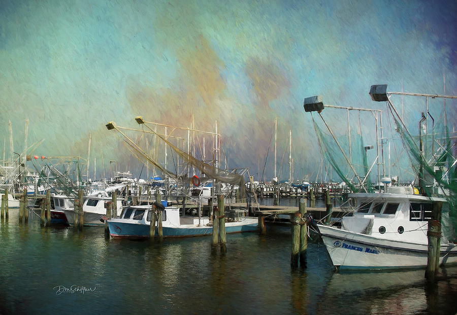 Pass Christian Harbor by Don Schiffner