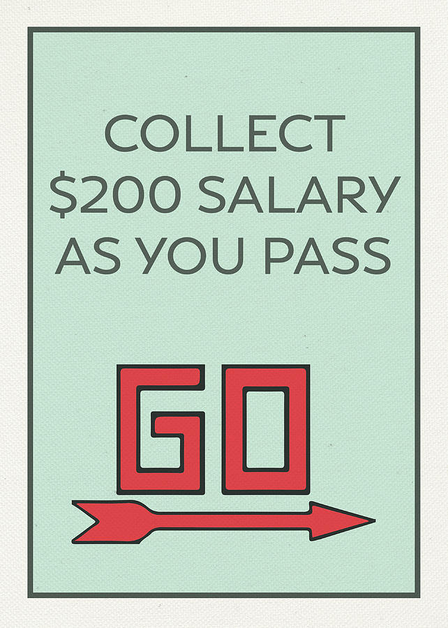 Pass go collect 200 dollars vintage monopoly board game theme card pass go mixed media pass go collect 200 dollars vintage monopoly board game theme card bookmarktalkfo Choice Image