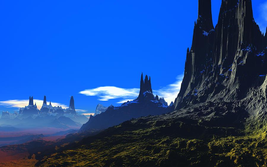 Pass Of Gormok Digital Art by David Jackson