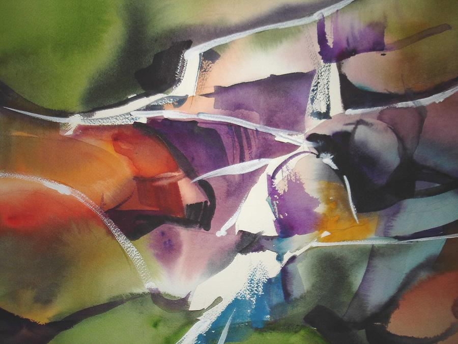 Abstract Painting - Passage by Richard Staat