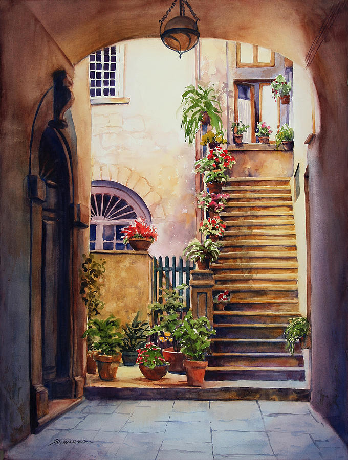 Europe Painting - Passages Back In Time by Sue Zimmermann