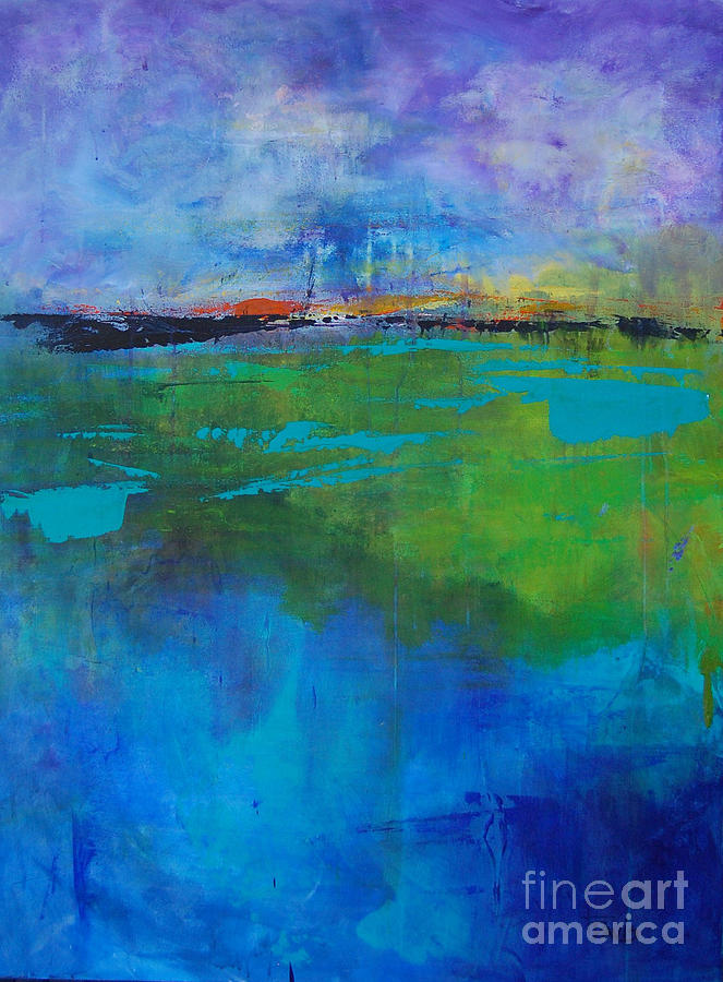 Abstract Landscape Painting - Passages by Terri Davis