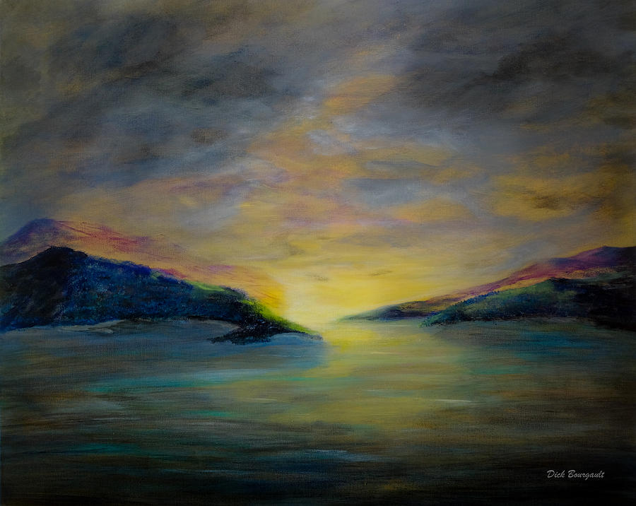 Sunrise Painting - Passageway Sunrise by Dick Bourgault