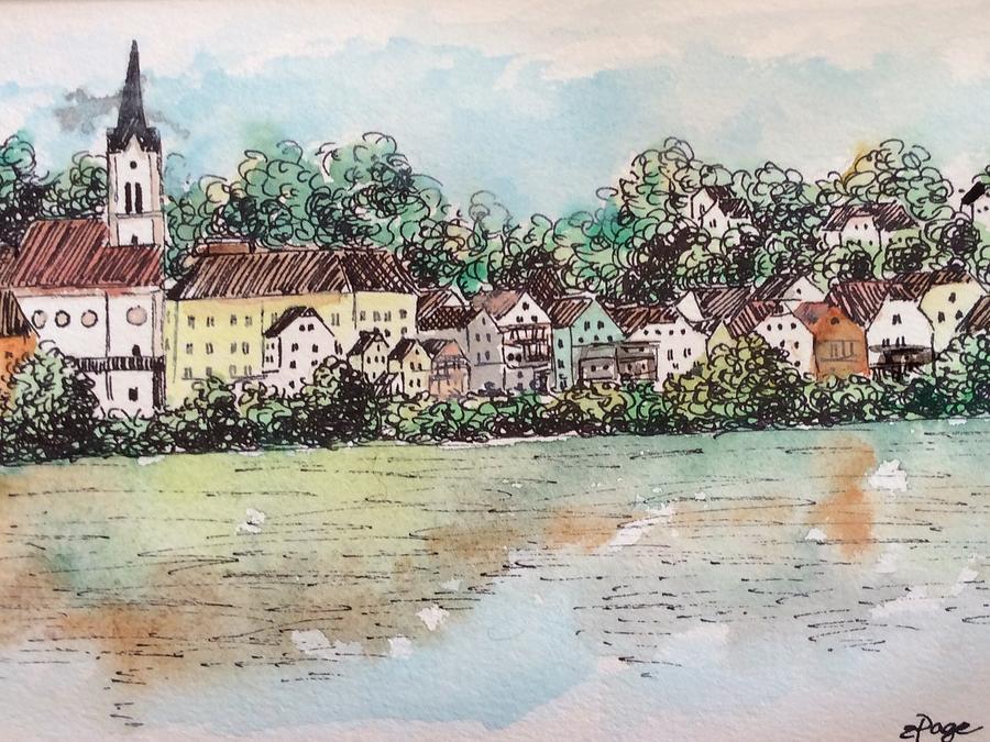 Passau Painting - Passau II by Emily Page