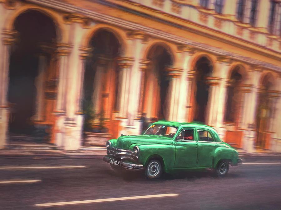 Building Photograph - Passing By On El Prado 2 by Claude LeTien