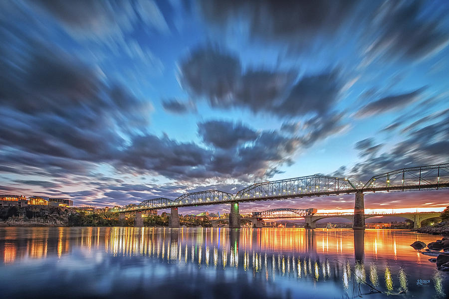 Passing Clouds Above Chattanooga by Steven Llorca