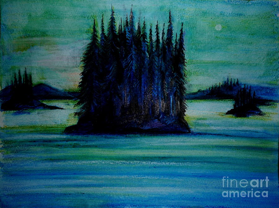 Landscape Drawing - Passing Land Of British Columbia  by Anna  Duyunova