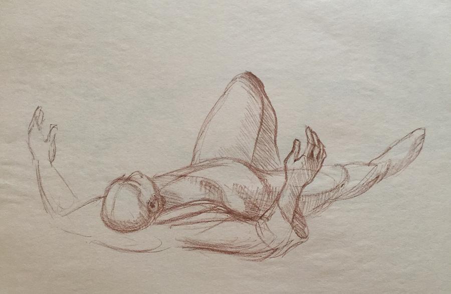 Passing On Drawing by Anastasiya Baron