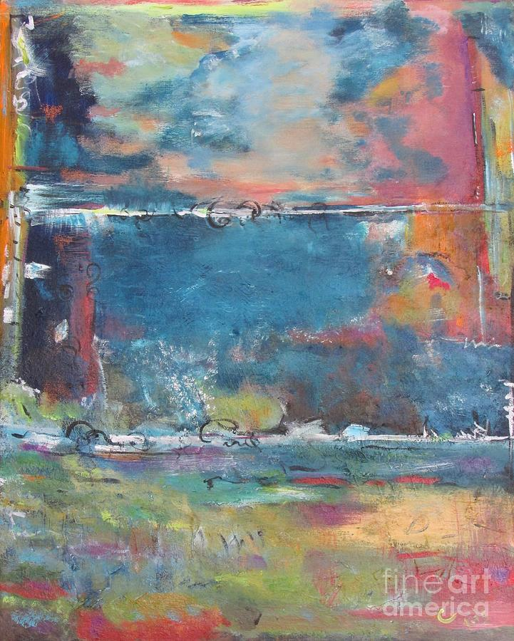 Abstract Painting - Passing Storm by Chaline Ouellet