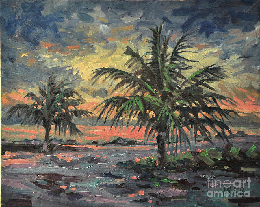 Tropical Storm Painting - Passing Storm by Donald Maier