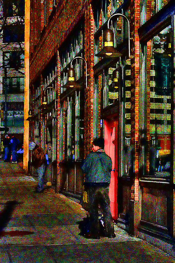 Street Scene Photograph - Passing Time by David Patterson