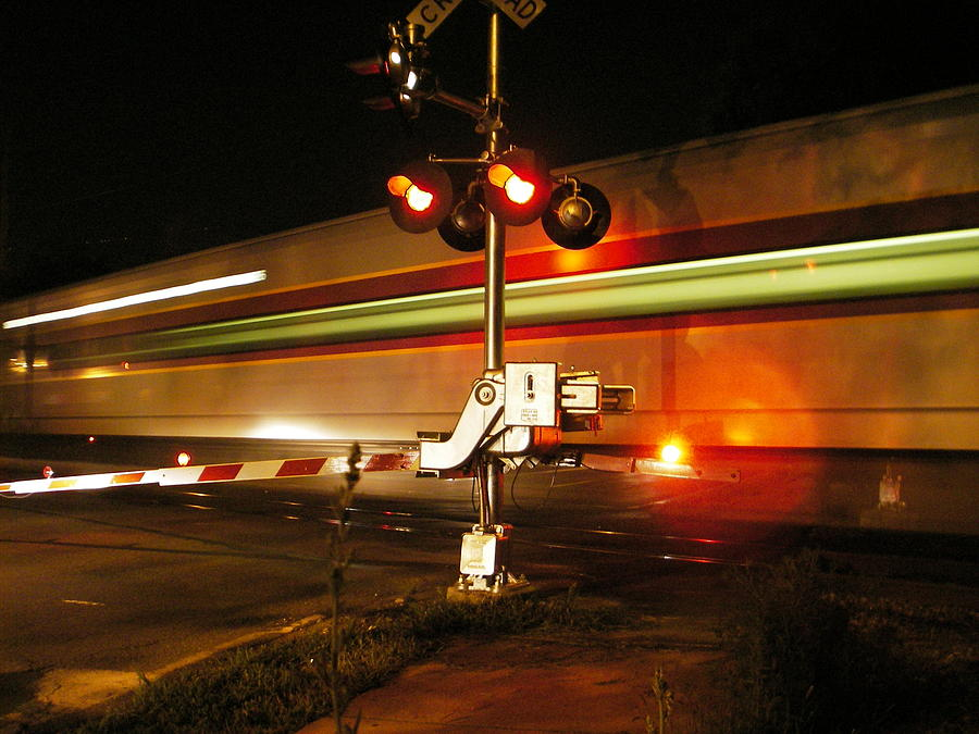 Night Photograph - Passing Train by Eric Workman