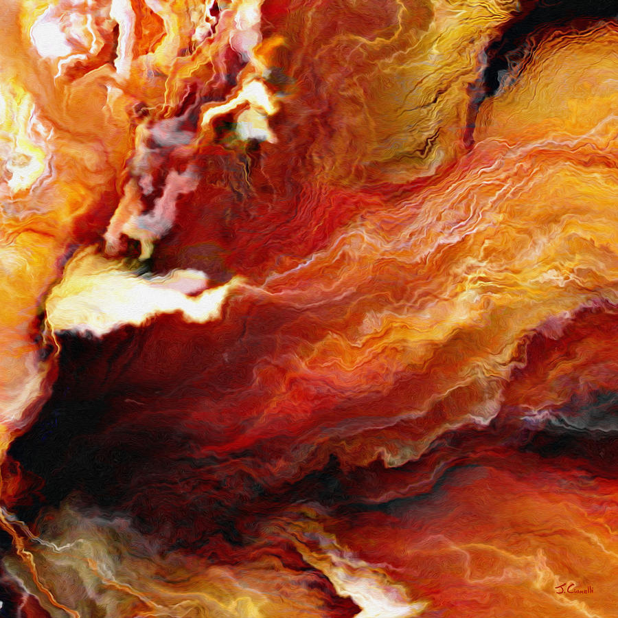 Passion - Abstract Art - Triptych 3 of 3 by Jaison Cianelli