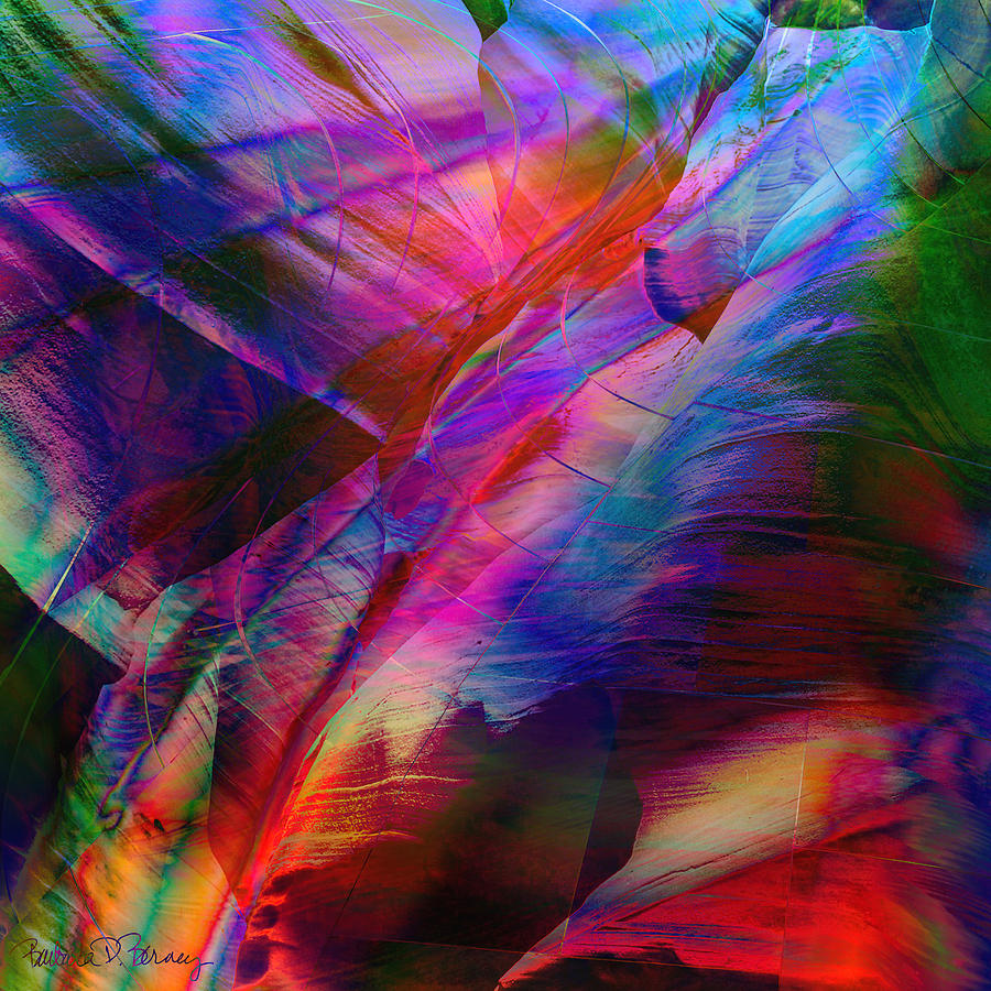 Abstract Digital Art - Passion by Barbara Berney