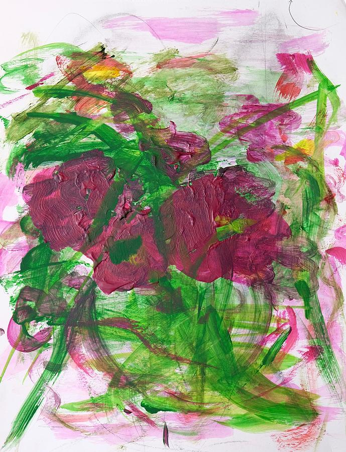 Green Painting - Passion by Barbara Rose Brooker