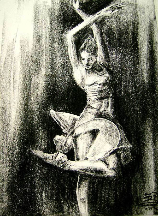 Dancer Drawing - Passion by Brandon Coley