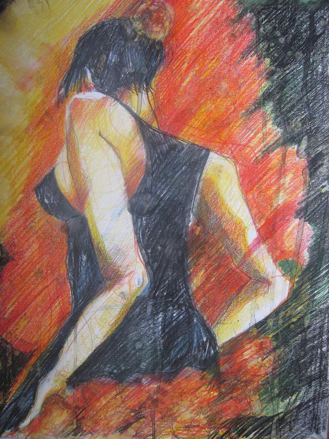 Passion Drawing by Brigitte Hintner
