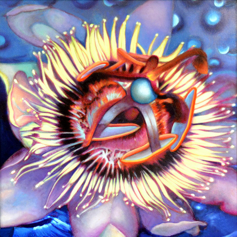 Passion Flower Painting - Passion Flower by Anni Adkins