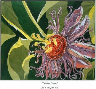 Passion Flower Painting by Wendy Tatter