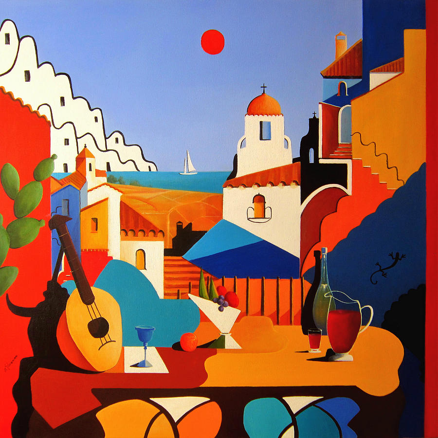 Passion For Life Painting - Passion For Life Spain by Ray Gilronan