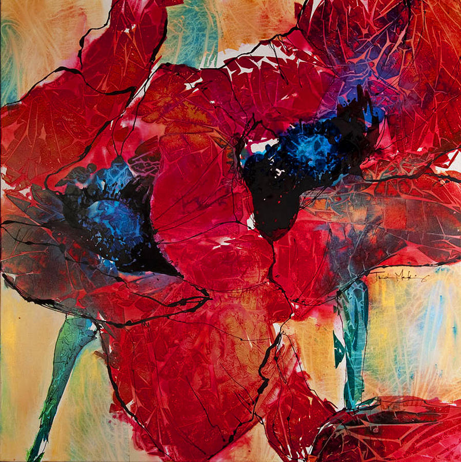 Red Painting - Passion I by Trish McKinney
