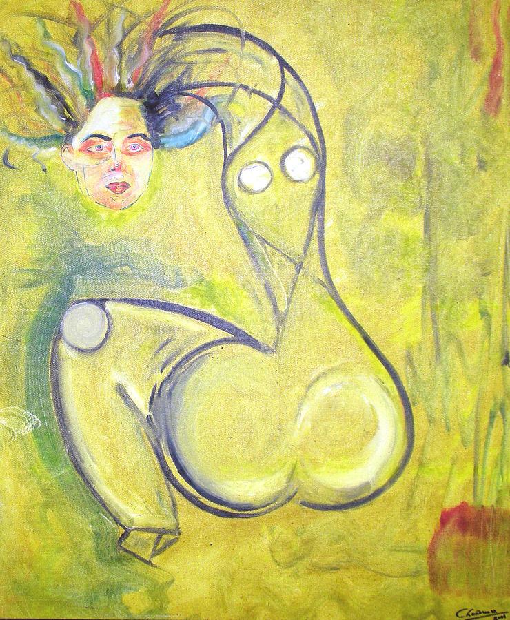 Woman Painting - Passion by Narayanan Ramachandran