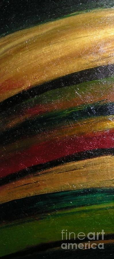Red Painting - Passion Of Fury Detail by Maria Bonnier-Perez