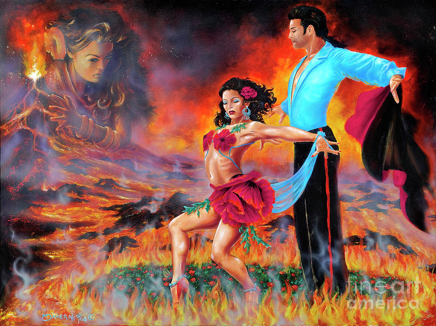 Ballroom Dancers Painting - Passion Poppy by Paint The Floor