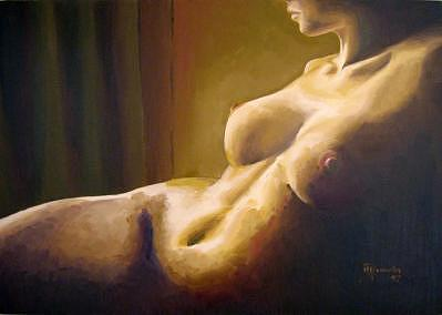 Nude Painting - Passion The Afternoon by Marcello Romeiro