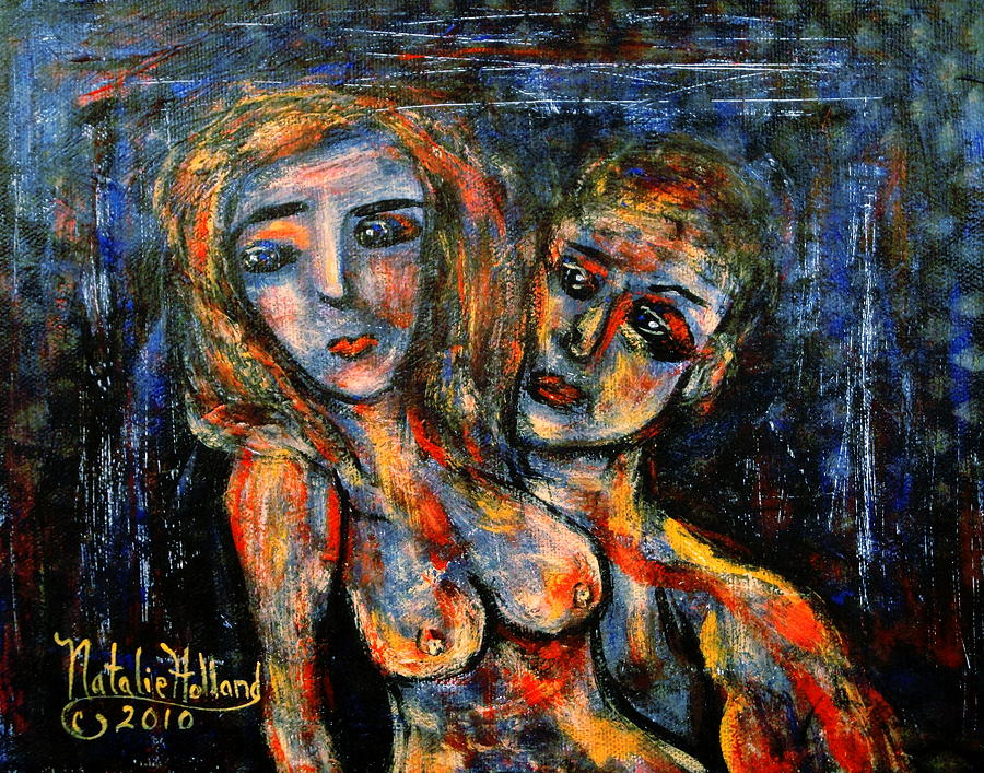 Expressionism Painting - Passionate Embrace by Natalie Holland