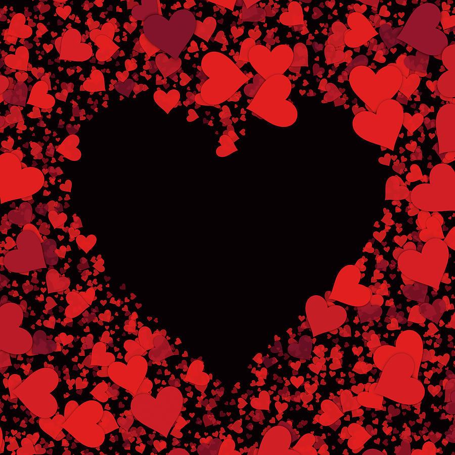 Love Hearts Digital Art - Passionate Love Heart by Isabella Howard